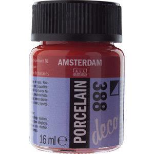 Amsterdam Deco Porselein Helderrood Dekkend 16 ML Kleur 388