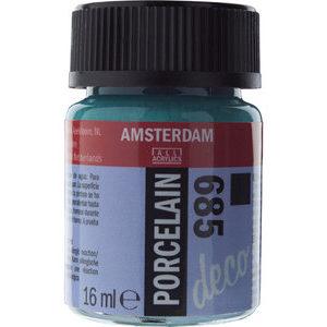 Amsterdam Deco Porselein Turkoois Dekkend 16 ML Kleur 685