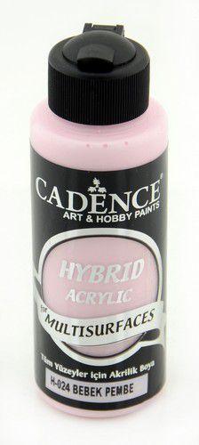 Cadence Hybride acrylverf (semi mat) Baby Roze 01 001 0024 0120  120 ml