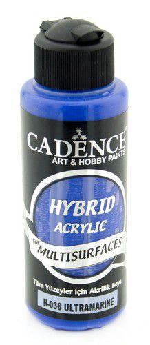 Cadence Hybride acrylverf (semi mat) Ultramarijn Blauw 01 001 0038 0120  120 ml